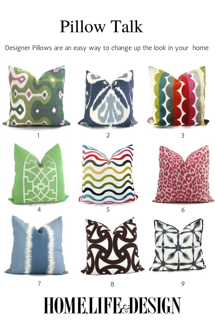 Colorful Designer Pillows from Etys for the home - Jill Shevlin Design Home Life & Design