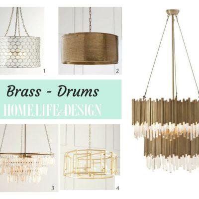 Brass Drum Chandeliers