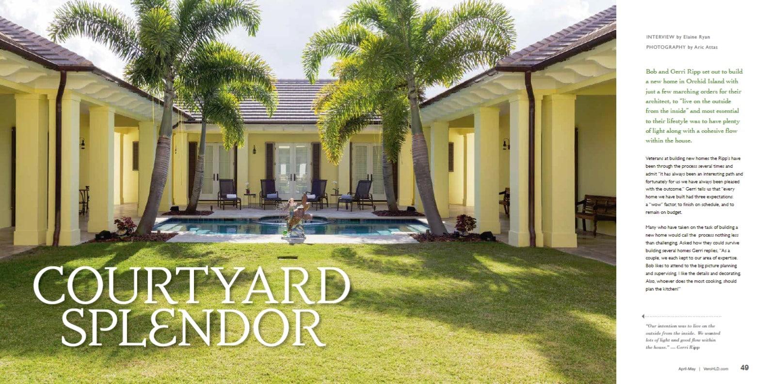Courtyard Homes Orchid Island Florida, Courtyard Home Vero Beach, Jill Shevlin Design, Vero Beach Interior Designer