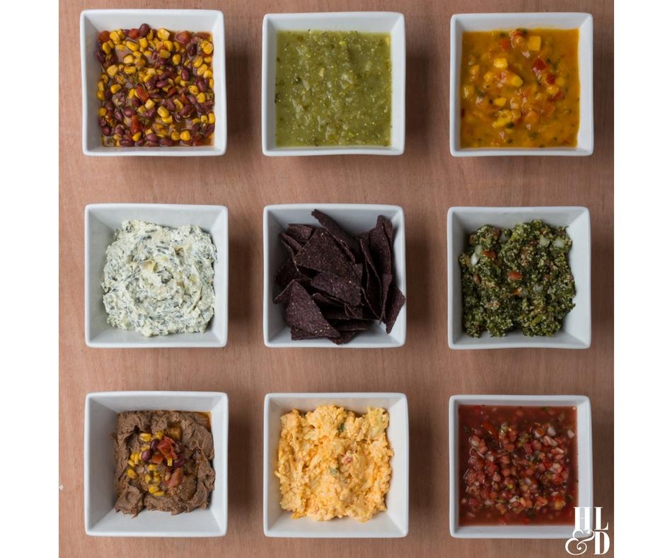 Dipping! Chips & Dip Recipes, Salsa Recipe, Black Bean Hummus, Spinach Artichoke Dip, Mango Salsa