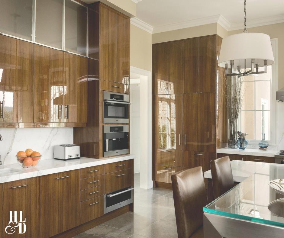 Contemporary Kitchen Design, Jill Shevlin Design, Rohl, Miel, Wolf, Limestone Floors, Lacquered Teak Cabinets