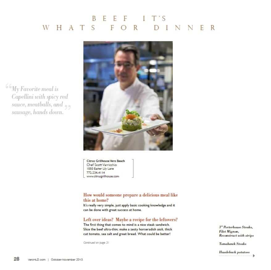 Citrus Grillhouse - Chef Scott Varricchio