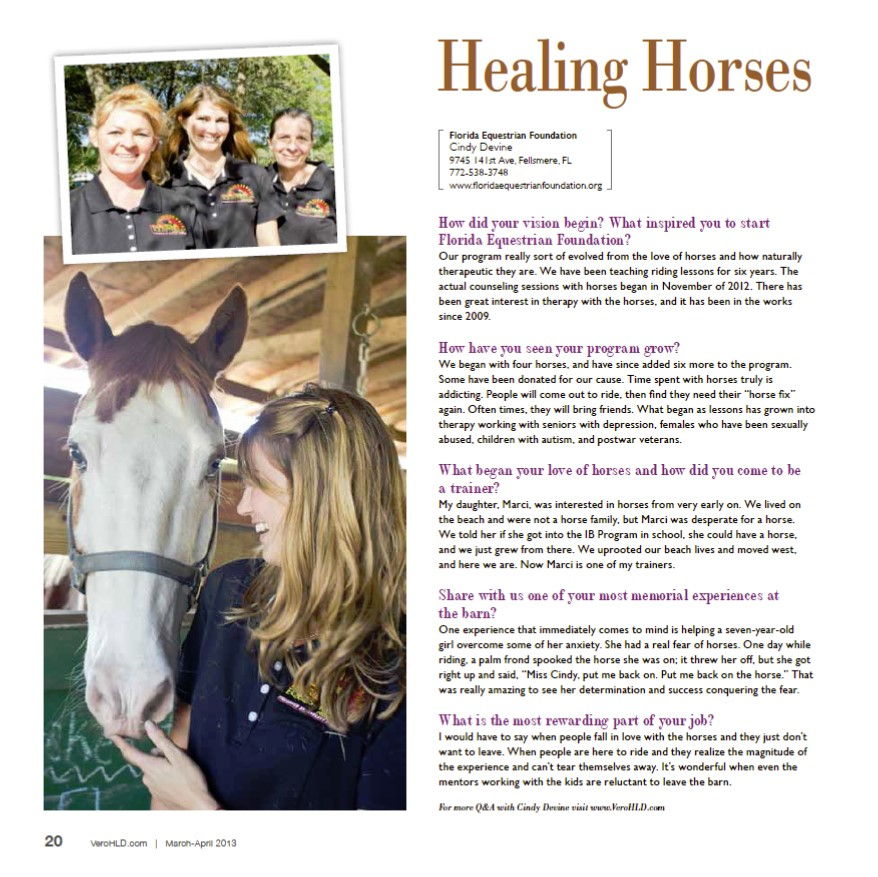 Florida Equestrian Foundation Fellsmere FL - Healing Horses - Home Life & Design
