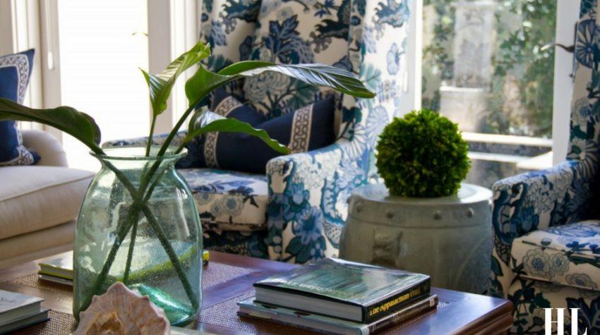 West Indies Windsor Style - Blue Living Room Decor