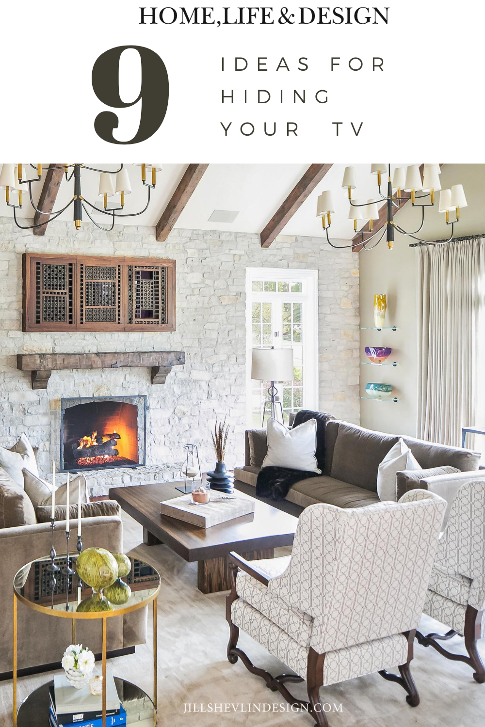 9 Ideas for Hiding Your TV in the Living Room