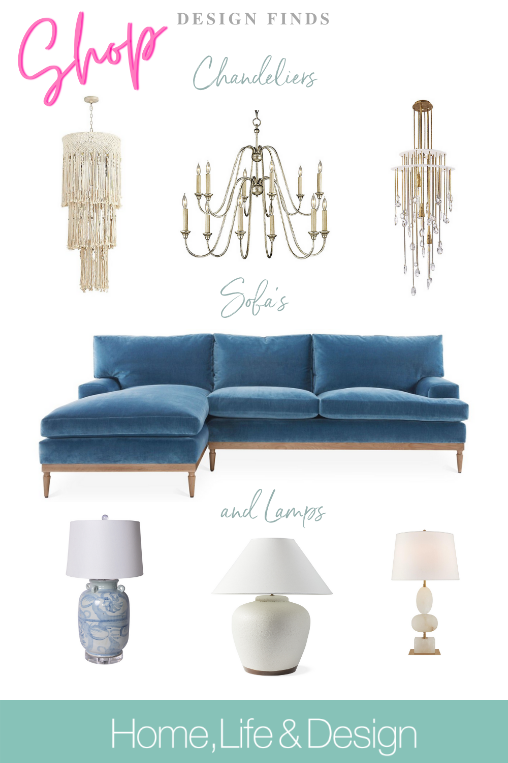 Shop Sofas Chandeliers and Lamps jill Shevlin Design